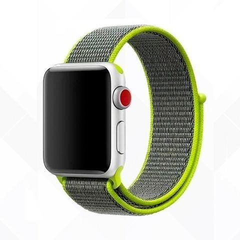 Pulseira Esporte Nylon Apple Watch 38/42mm + Pelicula 5d - Foto 6