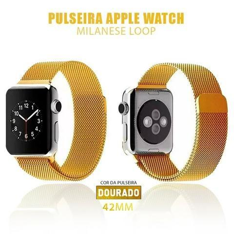 Pulseira Estilo Milanês P/ Apple Watch 42mm + Película 5D - Foto 3