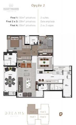 Apartamento Garden com 3 dormitórios à venda por R$ 1.099.998,96 - Ecoville - Curitiba/PR - Foto 3