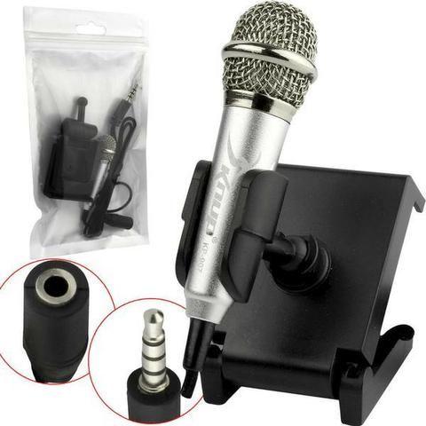 Mini Microfone Para Celular P2 Macho Kp-907 - Foto 2