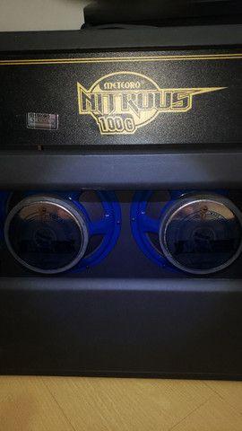 Amplificador Meteoro Nitrous 100 com falantes Voghan (venda/troca) - Foto 6