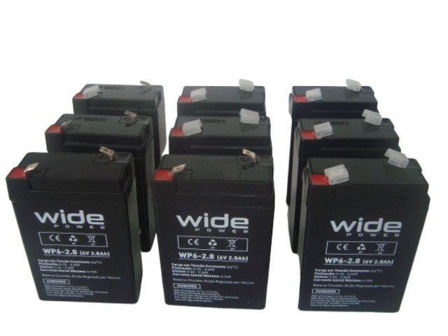 Bateria Selada 6V 2.8Ah - Balanças / Alarmes / Luz de Emergência Etc - Foto 5