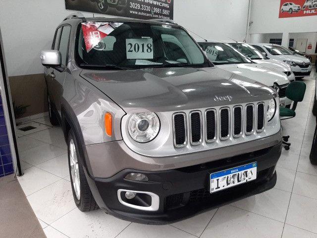 Jeep renegade limited automática 6 marchas único dono garantia banco couro multimídia - Foto 4