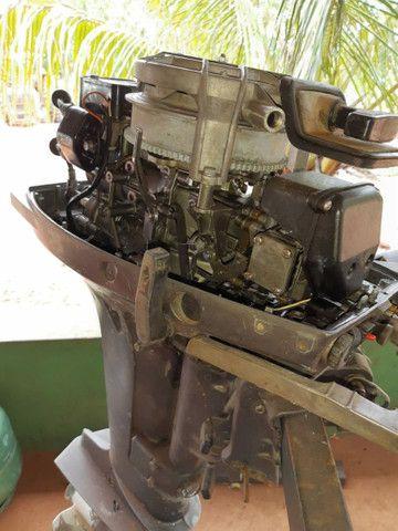 Vendo motor de popa Yamaha 15 hp - Foto 3