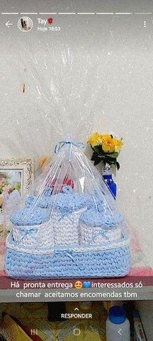 Kit bebê em fio de malha ( crochê ) - Foto 5