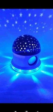 Abajur Luminária céu estrelado com Bluetooth - Foto 3