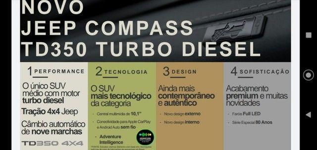 Novo Jeep Compass Longitude turbodiesel 2022 para PCD, PJ ou produtor Rural - Foto 4