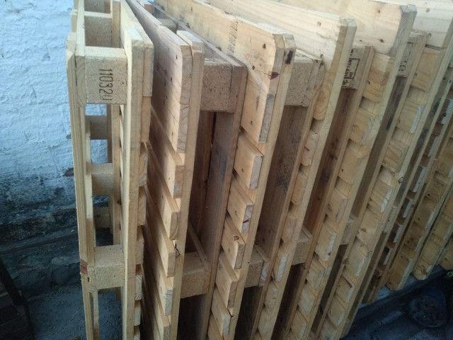 Pallets reforçados usados em pinus Palets Paletes - Foto 3