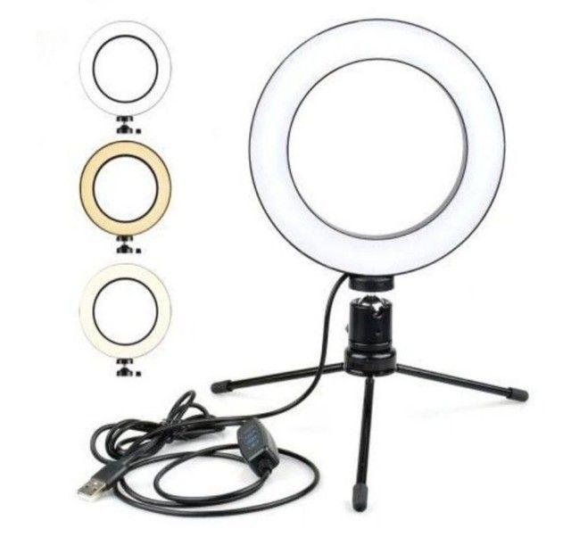 Ring Light 26cm (novo) para Celular - Foto 2