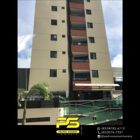 Apartamento com 2 dormitórios para alugar, 56 m² por R$ 1.700/mês - Tambaú - João Pessoa/P