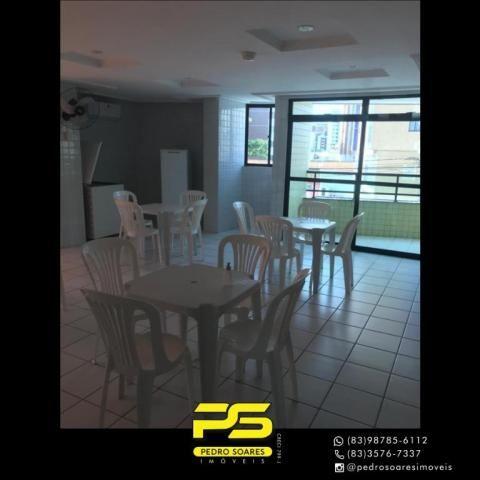 Apartamento com 2 dormitórios para alugar, 56 m² por R$ 1.700/mês - Tambaú - João Pessoa/P - Foto 5