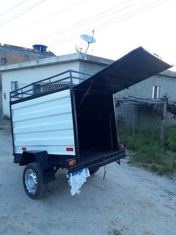 Vende-se uma carroçinha baú  180x110x105 - Foto 4