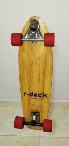 Skate longboard mais capacete e proteções ( Com simulador de surf) - Foto 4
