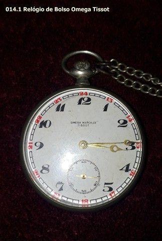 Relógio de Bolso Antigo Omega Tissot - Foto 2