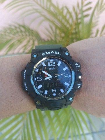 Relógio militar SMAEL (50M) Original - Verde Oliva - Foto 5