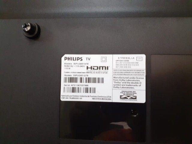 smart tv 50'' ultra slim 4K uhd LED philips - Foto 2