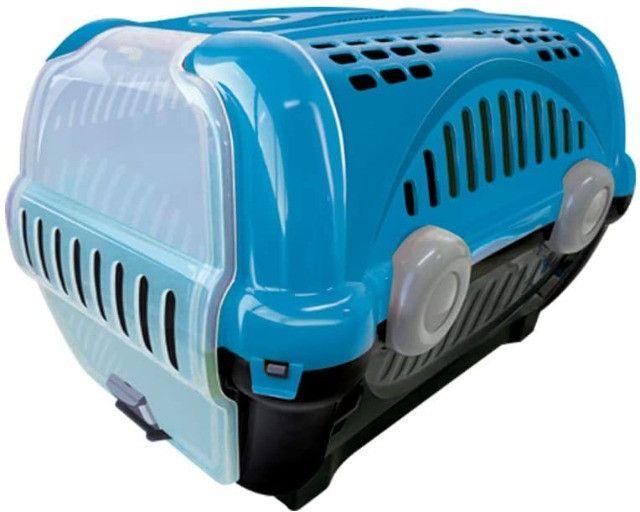 Vendo Caixa de Transporte Furacão Pet Luxo Azul - Tam. 02