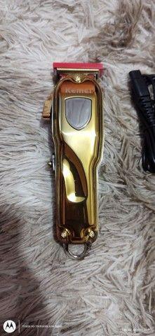 Máquina kemei dourada original - Foto 2