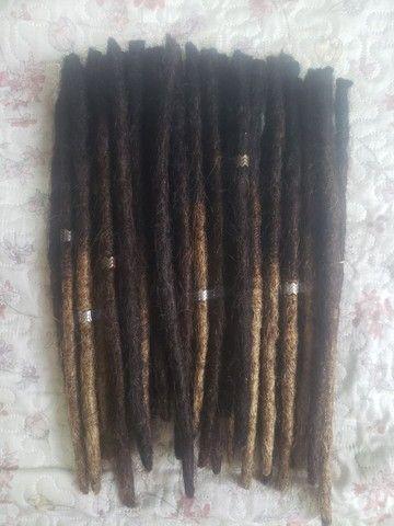 Dreadlock 37unidades (cabelo humano) / dread - Foto 2