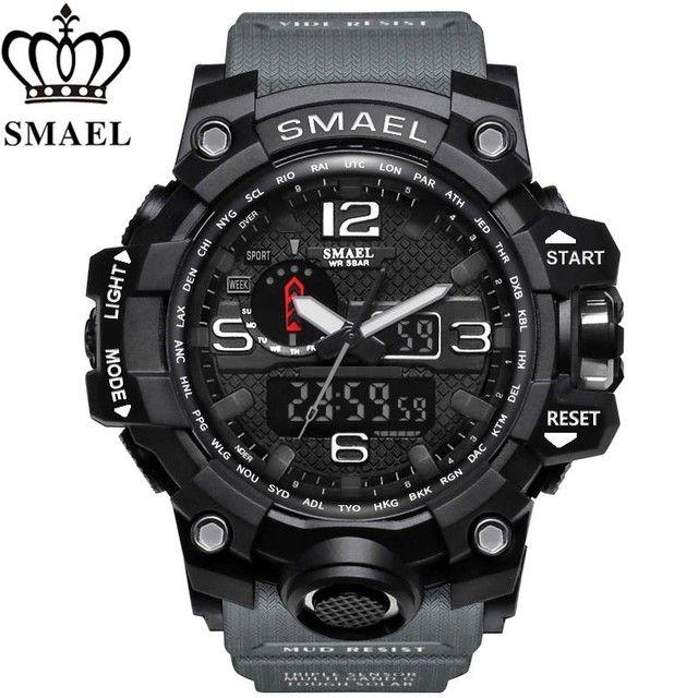Relógio militar SMAEL (50M) Original - Cinza
