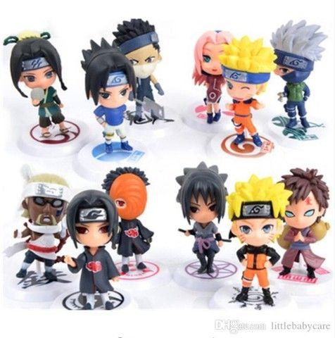 6 pçs/Conjunto Figuras de Ação Versão Q Naruto