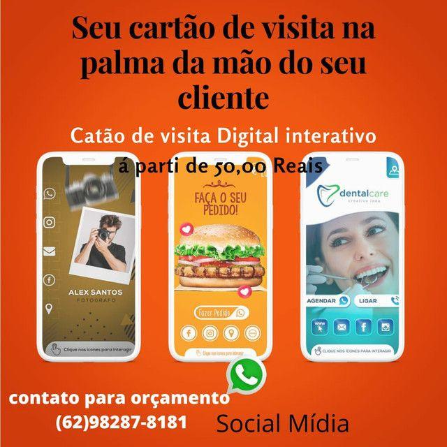 Cartão Virtual interativo e serviço de social mídia