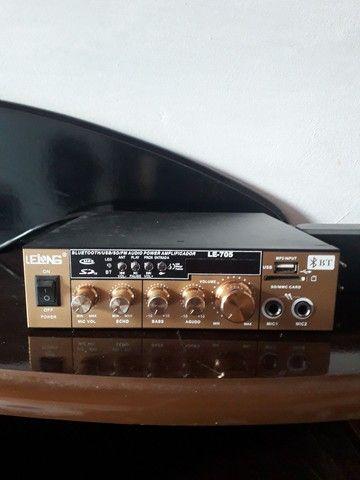 Mini Amplificador Lelong  Pouco uso Novo/Usado - Foto 3