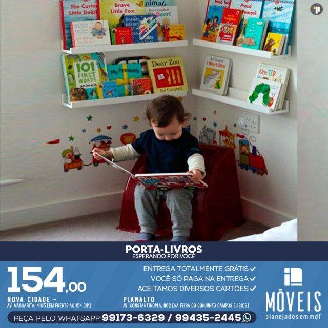 Prateleira porta-livros e brinquedos infantil 100% MDF - Foto 5