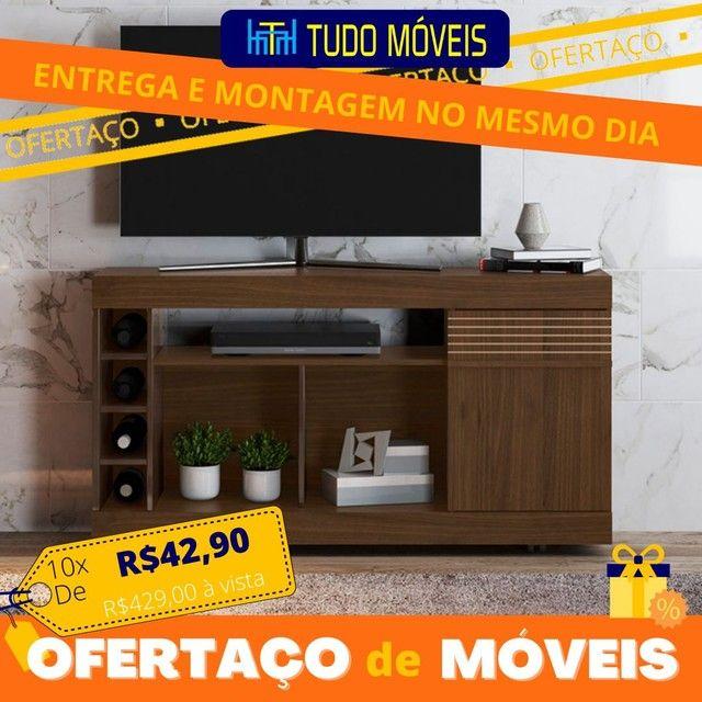 """OFERTAÇO DE MÓVEIS / RACK PARA TV até 60"""" COM ADEGA E RODINHAS  - Foto 2"""