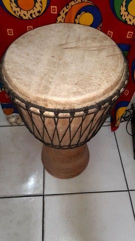 Djembe Original Gana Percussão Africana Tam Grande - Foto 3