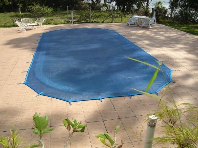 Tela de protecao para piscina direto de fabrica
