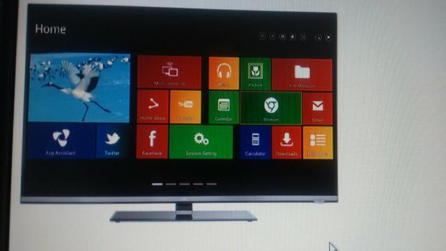 SMART TV JVC 55 LED 3D Android Tela quebrada
