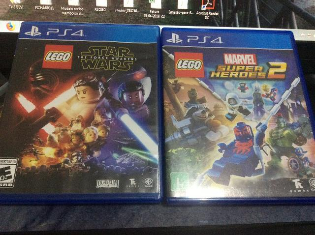 Lego marvel PS4 Super Heroes 2 e Lego Star Wars the force Awakens