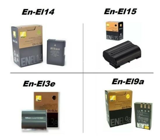 Bateria Nikon EN-EL 14 / EN-EL 15 / EN-EL3e / EN-EL9a P/Câmera Nikon D90/D3200/D7000
