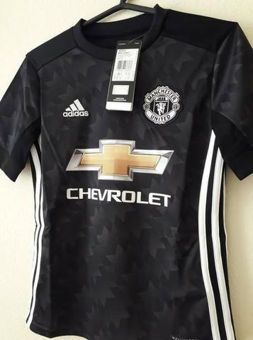 57e88091be Camisa Manchester United Infantil Torcedor Adidas - Preta - Roupas e ...