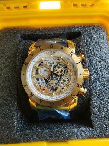 66db4b92459 Relógio Bvlgari Skeleton Dourado - Bijouterias