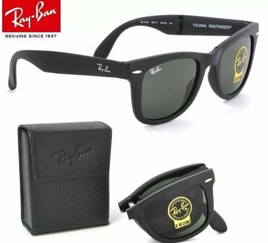 f13bee407 Óculos de sol Modelo Rayban Wayfarer Dobrável 1 linha Proteção UV400 ...