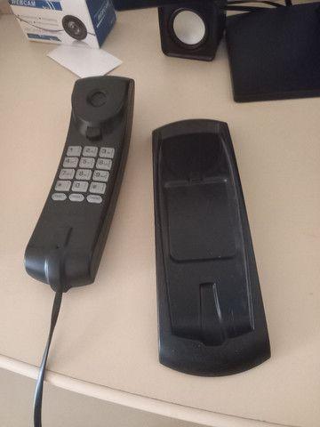 Telefone  preto com fio