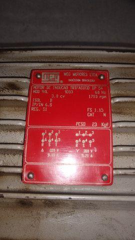 Motor Trifásico 3cv 1710 rpm Weg - Foto 3
