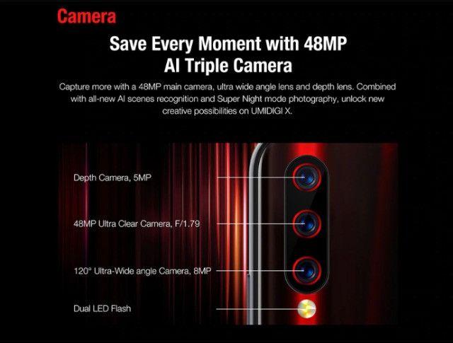 Smartphone Umidigi X Dual Sim 128 Gb Flame Black 4 Gb Ram - Foto 6