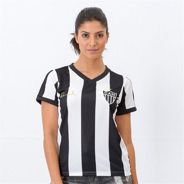Camisa Oficial Atlético Mineiro Reinaldo Babylook Feminino (Tam. P-M-G) em Uberaba, MG