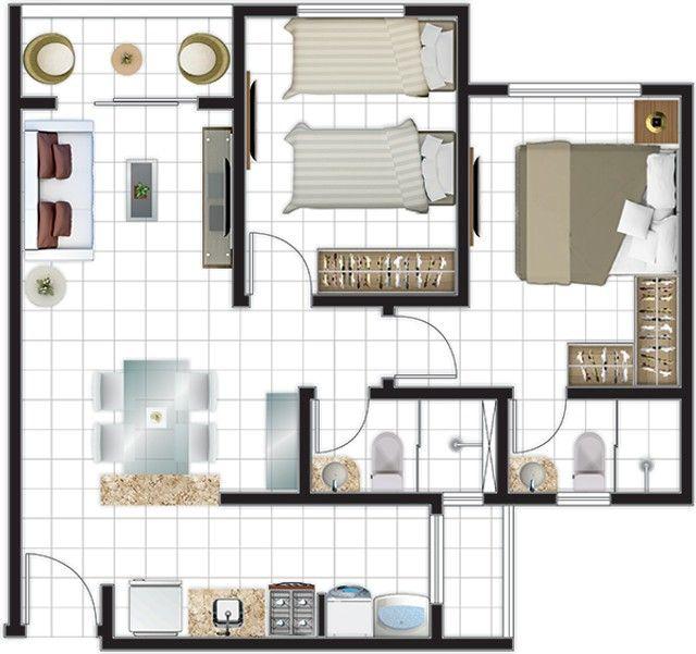 Apartamentos à Venda no bairro Aeroporto com plantas de 02 e 03 Quartos sendo 01 Suíte - Foto 19