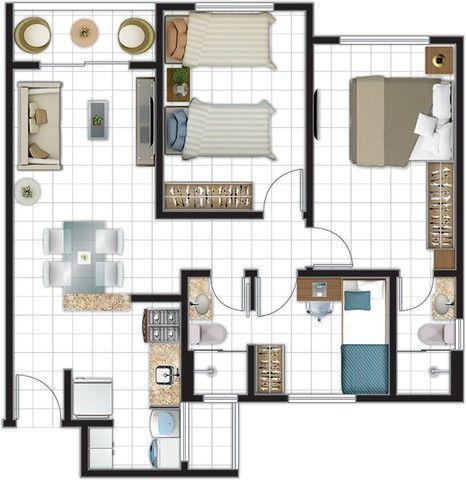 Apartamentos à Venda no bairro Aeroporto com plantas de 02 e 03 Quartos sendo 01 Suíte - Foto 18
