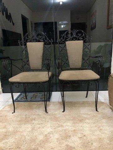 Cadeiras de ferro rústica relíquia  - Foto 2