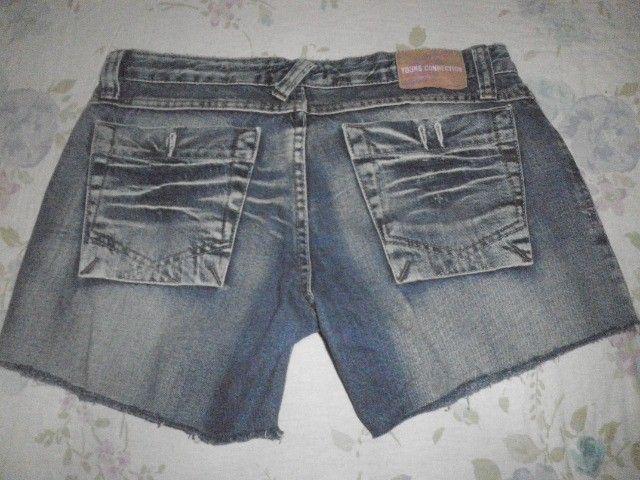 Short Jeans pré lavado - 42 - Foto 2