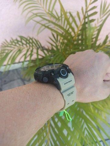 Relógio militar SMAEL (50M) Original - Cáqui - Foto 6