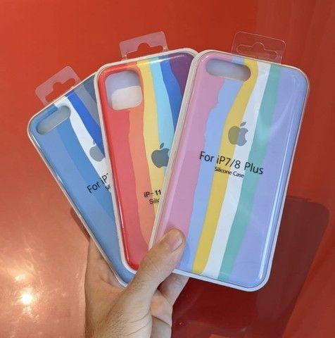 Cases/capas/capinhas  arco-íris/lgbt/tom pastel/azul - Foto 2