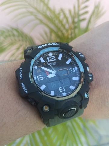 Relógio militar SMAEL (50M) Original - Verde Oliva - Foto 4