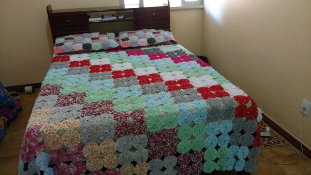 Colcha de cama de casal feita a mão