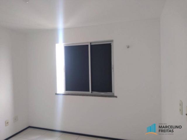 Apartamento com 2 dormitórios para alugar, 52 m² por r$ 1.109/mês - álvaro weyne - fortale - Foto 17